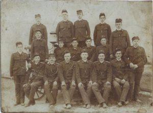 Fotografija senožeških gasilcev iz leta 1912